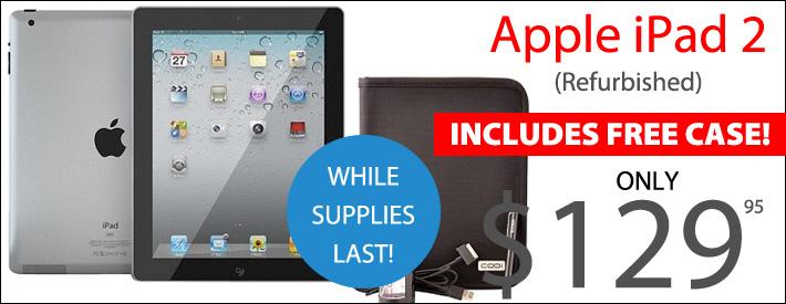 Apple iPad 2 with Case - $129