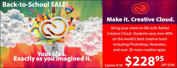 Adobe Creative Cloud Student and Teacher
