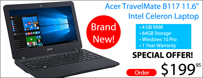 ACER Travelmate Laptop - $199