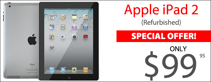 Apple iPad 2 Refurbished - $99.95