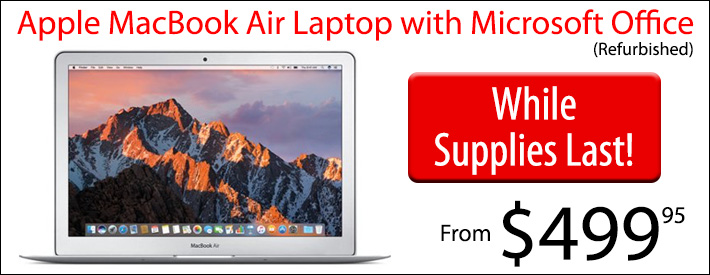 """Apple MacBook 13.3"""" with MS Office from $499"""