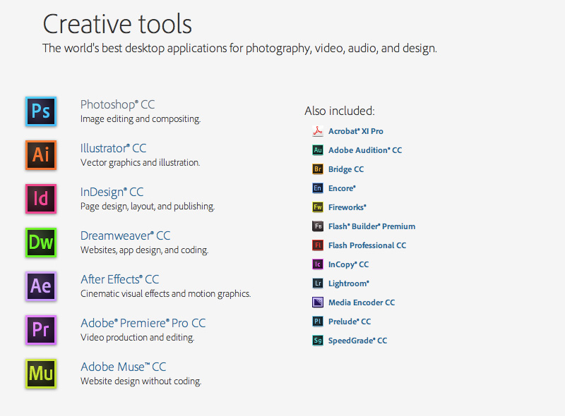 Adobe Creative Cloud For Faculty One Year Subscription Macwin