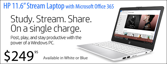 """HP Stream 11.6"""" with Microsoft Office 365"""