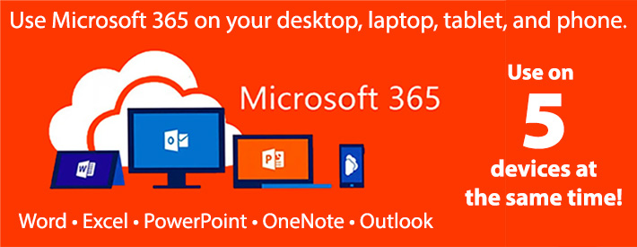 Microsoft Office 365 - Use on 5 Devices
